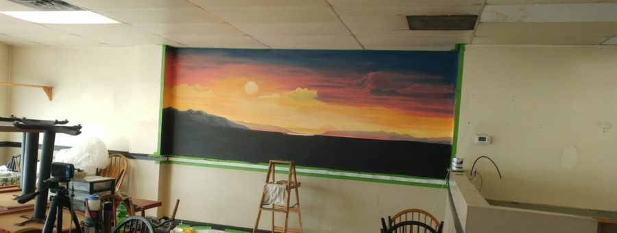 Twin Suns Mural, first three days