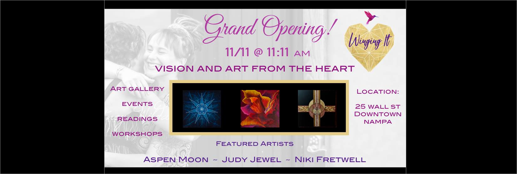 Featured Artist at Winging It Arts